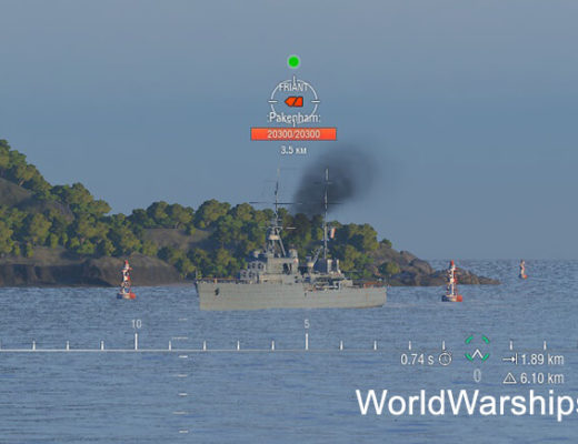 Мод Светофор для World of Warships 0.8.2