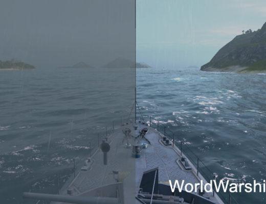 Отключение тумана и бликов WoWs
