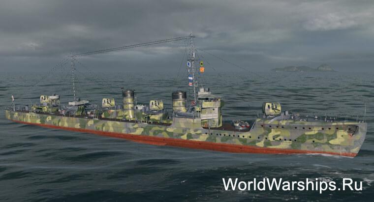 Японский эсминец Minekaze
