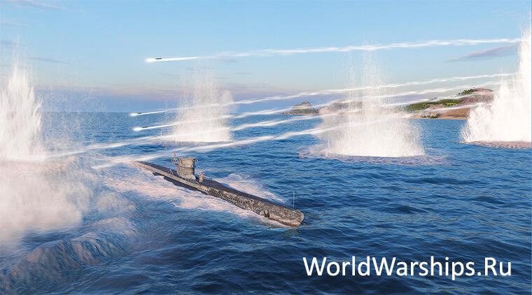 world of warships подводные лодки как играть